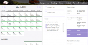 Booking System Sample